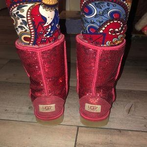 Red Sparkly Uggs